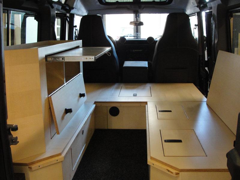 Land Rover Defender 110 Innenausbau Umbau